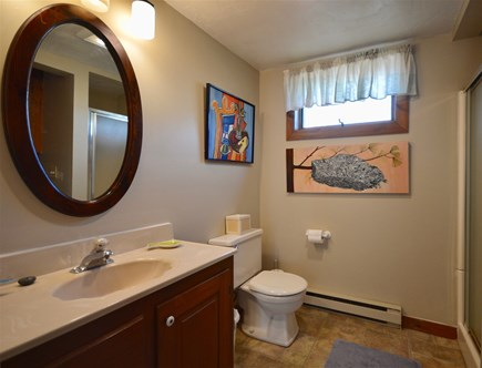 Orleans Cape Cod vacation rental - Full bathroom 1 with stand up shower, washer and dryer