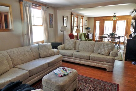 South Wellfleet Cape Cod vacation rental - Living room opens to bright dining area