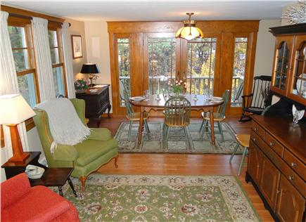 South Wellfleet Cape Cod vacation rental - Dining with seating for 6, French doors to balcony