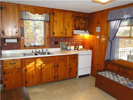 South Wellfleet Cape Cod vacation rental - Large kitchen with eating area, great for kids