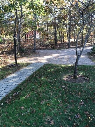 Harwich Cape Cod vacation rental - Private driveway and lighted walkway