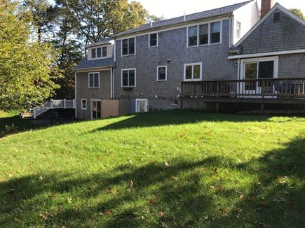 Harwich Cape Cod vacation rental - Garden level to the rear of the house.