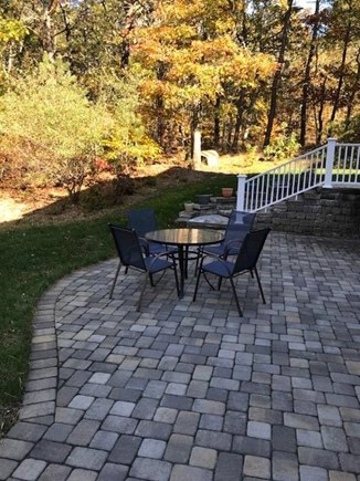 Harwich Cape Cod vacation rental - Stairway to patio and private entrance.