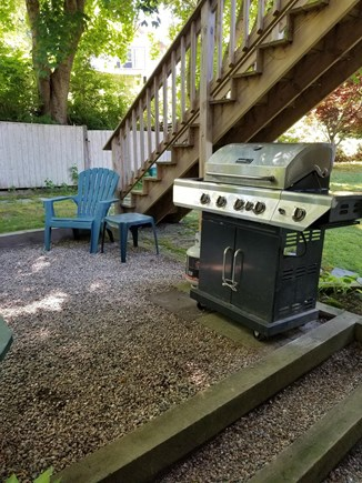 Wellfleet Cape Cod vacation rental - Back yard patio with gas grill
