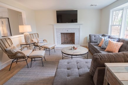 Yarmouth Port Cape Cod vacation rental - Comfortable Living Room with sectional sofa and two lounge chairs