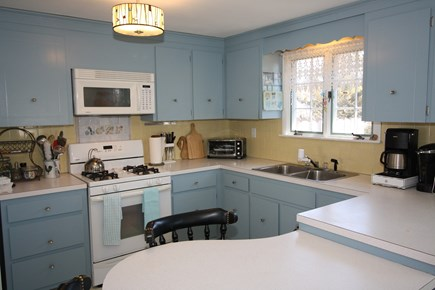 Dennis Port Cape Cod vacation rental - Cute kitchen stocked with standard and Keurig coffee makers