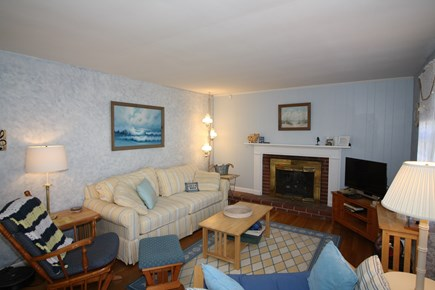 Dennis Port Cape Cod vacation rental - Comfortable living room with window A/C