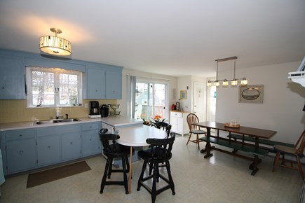Dennis Port Cape Cod vacation rental - Enjoy your morning tea at the dining peninsula or the farm table