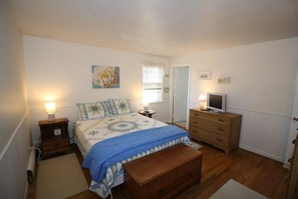 Dennis Port Cape Cod vacation rental - Master bedroom with window A/C and en suite half bath