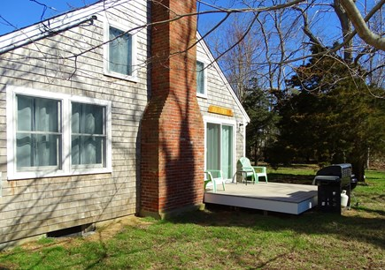 Eastham Cape Cod vacation rental - Deck area with gas grill