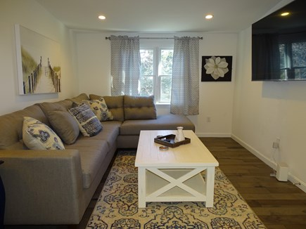 Eastham Cape Cod vacation rental - Upstairs rec room with 60 inch (??) TV