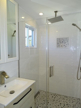 Provincetown Cape Cod vacation rental - Bathroom with spacious spa-style rain shower-head