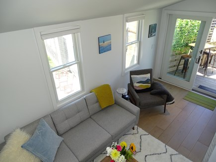 Provincetown Cape Cod vacation rental - Living area opens onto full outdoor deck with scenic dune views