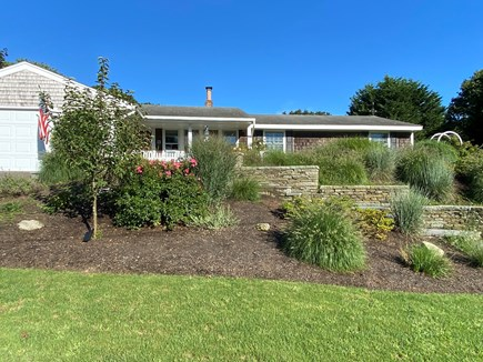 Chatham Cape Cod vacation rental - Beautiful terraced gardens in front yard.