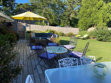 Chatham Cape Cod vacation rental - Spacious, sun-filled back deck and fenced-in yard.