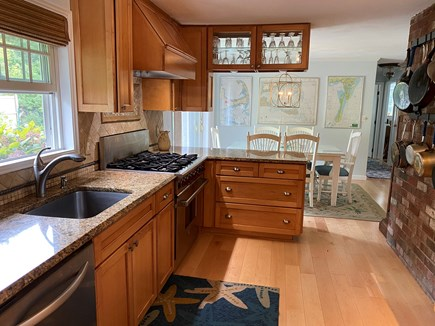 Chatham Cape Cod vacation rental - Chef's kitchen with Wolf stove and dining area.