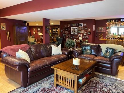 Brewster Cape Cod vacation rental - Comfortable leather couches.