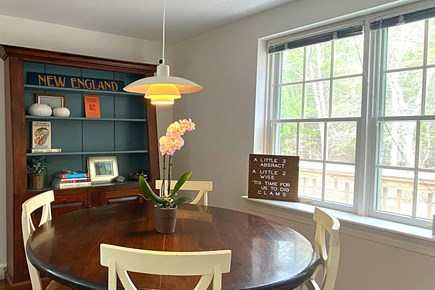 Osterville Cape Cod vacation rental - Dining Area, great for board games.