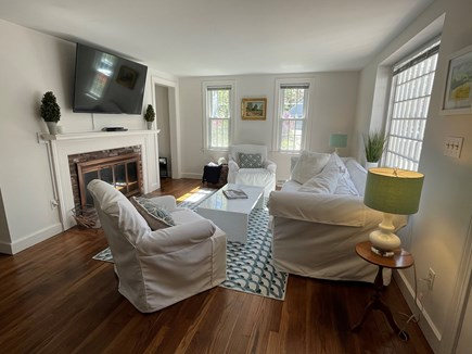 Osterville Cape Cod vacation rental - Living room and fireplace