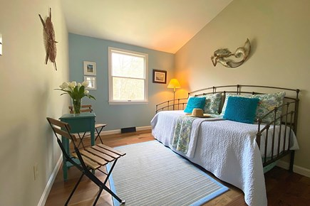 South Yarmouth Cape Cod vacation rental - Guest Bedroom with Twin Bed and Twin Trundle Bed.
