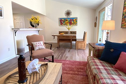 South Yarmouth Cape Cod vacation rental - View from Living Room to Dining Room.