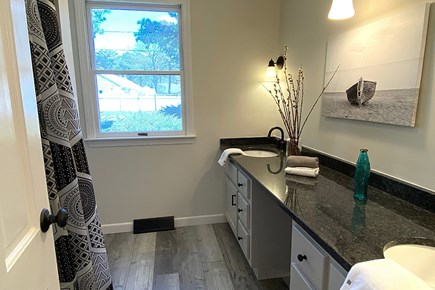 South Yarmouth Cape Cod vacation rental - Guest Bathroom shared by 2 Guest Bedrooms.