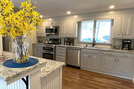 South Yarmouth Cape Cod vacation rental - View from Dining Room into Renovated Kitchen.