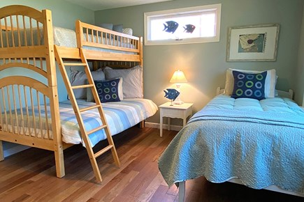 South Yarmouth Cape Cod vacation rental - Guest Bedroom with Twin Bed and Bunk Beds. Sleeps 4.