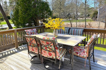 South Yarmouth Cape Cod vacation rental - Dining area on Large Deck.
