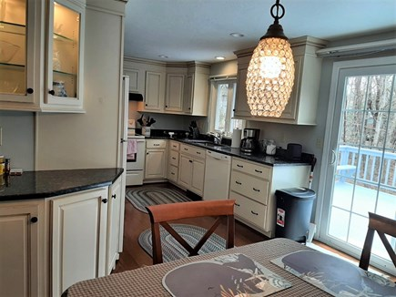 West Yarmouth Cape Cod vacation rental - Large Kitchen with Sliders to deck!