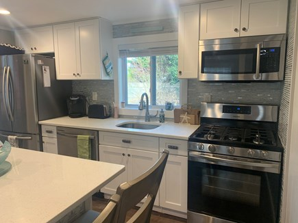 Dennisport Cape Cod vacation rental - New stainless steel appliances and dishwasher.