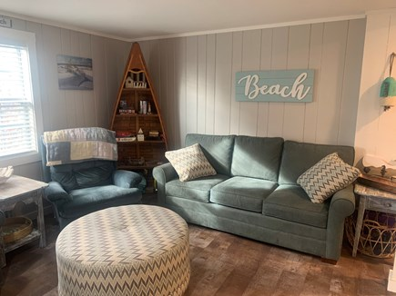 Dennisport Cape Cod vacation rental - Relax in the comfortable living room.