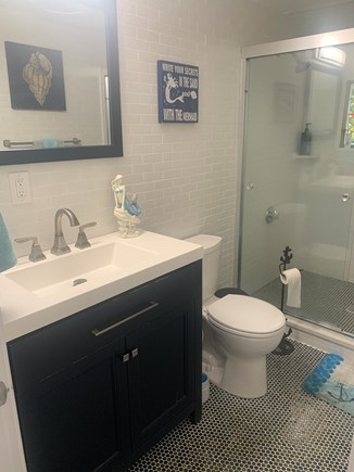 Dennisport Cape Cod vacation rental - Beautiful tiled bathroom