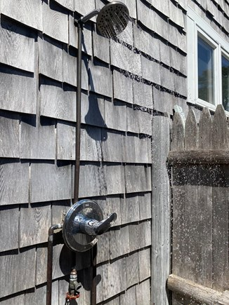 South Yarmouth/Bass River Cape Cod vacation rental - The outdoor shower is a must. Nothing better!!