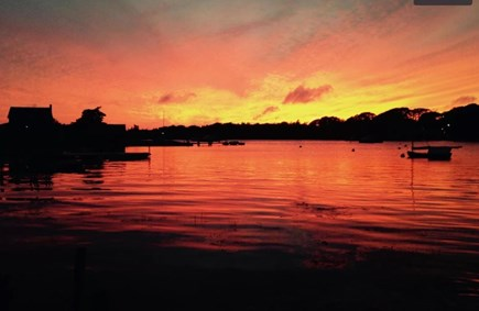 West Falmouth Cape Cod vacation rental - Porch sunset never gets old!