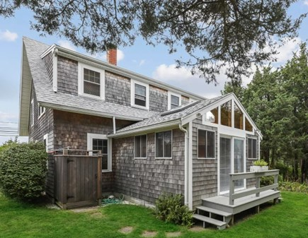 West Falmouth Cape Cod vacation rental - Back of House, includes an outdoor shower