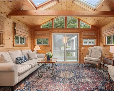 West Falmouth Cape Cod vacation rental - Family Room (being painted/updated)