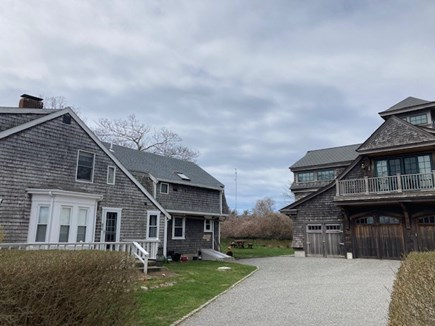 Falmouth, Woods Hole Village Cape Cod vacation rental - Main house is on left. Apartment stair case is around back.