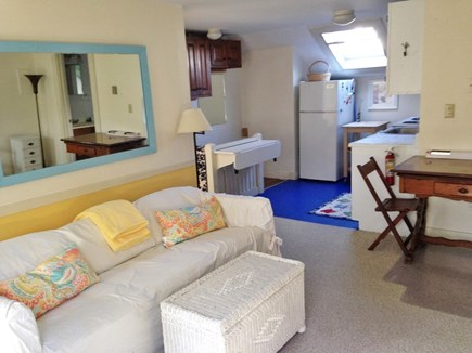 Falmouth, Woods Hole Village Cape Cod vacation rental - Living room and kitchen
