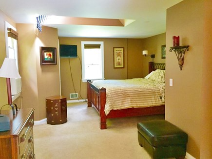 Brewster Cape Cod vacation rental - Gand master bedroom with king sized bed, TV and private bathroom.