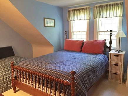 Brewster Cape Cod vacation rental - Middle bedroom upstairs with both a queen and twin bed.