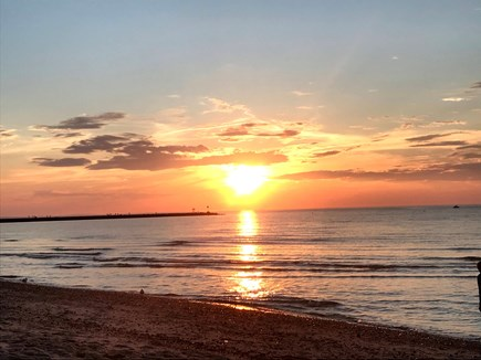 Brewster Cape Cod vacation rental - Sunset over the water on Sea Street Beach- closet beach to house