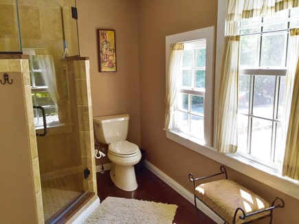Brewster Cape Cod vacation rental - Massive master bathroom connected to bedroom with large shower.
