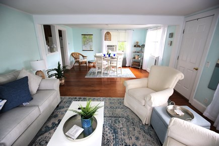 Yarmouth Cape Cod vacation rental - Living room and dining area