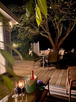 Yarmouth Cape Cod vacation rental - Deck at night