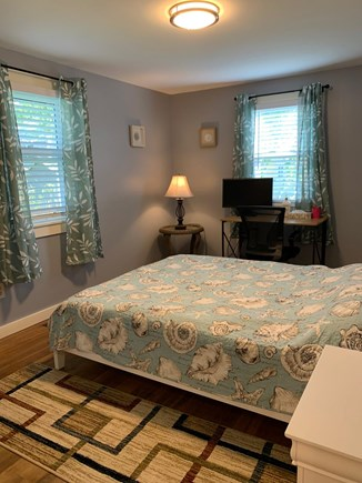 South Dennis Cape Cod vacation rental - Master bedroom/closet (all new furniture, mattress and bedding)