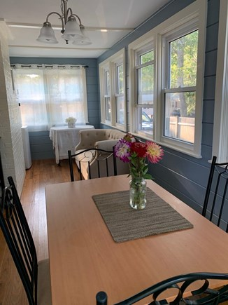 South Dennis Cape Cod vacation rental - Dinning room with window AC unit.