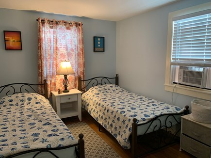 South Dennis Cape Cod vacation rental - Freshly painted 2nd bedroom with two twin beds/dresser/nightstand