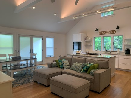 Brewster Cape Cod vacation rental - Open floor plan for kitchen, living and dining areas.