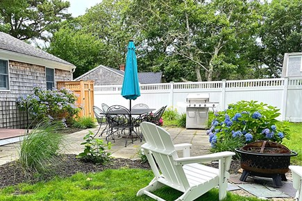 South Yarmouth Cape Cod vacation rental - Dining Area Patio with Grill